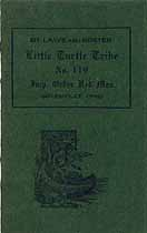 Thumbnail image of Little Turtle Tribe, No. 119, I.O.R.M. 1921 By-Laws cover