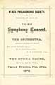 Thumbnail image of Nyack Philharmonic Symphony 1878-79, Third Concert cover