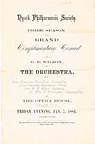 Thumbnail image of Nyack Philharmonic Symphony 1880-81, Grand Complimentary Council cover
