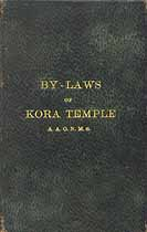 Thumbnail image of Kora Temple 1898 By-Laws A. A. O. N. M. S. cover