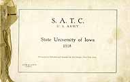 Thumbnail image of U. S. Army Iowa S. A. T. C. 1918 Roster cover