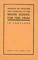 Thumbnail image of Maine School for the Deaf 1906 Report cover
