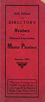 Thumbnail image of National Master Plumbers Association 1914 Directory cover
