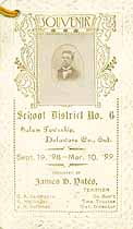 Thumbnail image of School District No. 6 1898-99 Souvenir cover