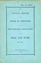 Thumbnail image of Pennsylvania Inst. for the Deaf and Dumb 1849 Report cover