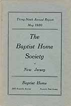 Thumbnail image of New Jersey Baptist Home Society 1930 Report cover