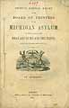 Thumbnail image of Michigan Asylum Biennial Report for 1865 and 1866 cover
