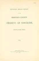 Thumbnail image of Hampden County Children's Aid Association 1890 Report cover