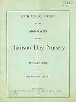 Thumbnail image of Harrison Day Nursery 1895 Report cover