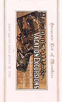 Thumbnail image of Raymond's 1886 Vacation Excursion to Saratoga cover