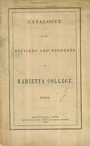 Thumbnail image of Marietta College 1858-9 Catalogue cover