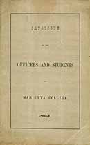 Thumbnail image of Marietta College 1860-1 Catalogue cover
