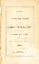 Thumbnail image of Kimball Union Academy 1848-9 Catalogue cover