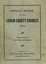 Thumbnail image of Lorain County Granges 1924 Roster cover