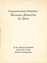 Thumbnail image of Wisconsin School for the Blind 1923 Commencement cover
