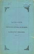 Thumbnail image of Hamilton College 1842-3 Catalogue cover