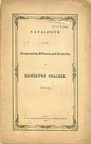 Thumbnail image of Hamilton College 1845-6 Catalogue cover