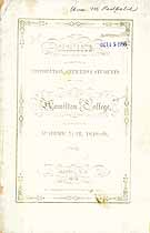 Thumbnail image of Hamilton College 1848-9 Catalogue cover