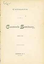 Thumbnail image of Cazenovia Seminary 1885-86 Catalogue cover