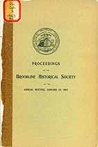 Thumbnail image of Brookline Historical Society 1903 Annual Meeting cover