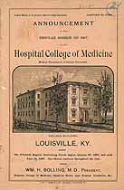 Thumbnail image of Kentucky College of Medicine 1887 Catalogue cover