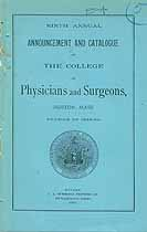 Thumbnail image of Boston College of Physicians 1888-1889 Catalogue cover
