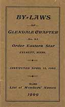 Thumbnail image of Glendale Chapter No. 83 OES By-Laws cover