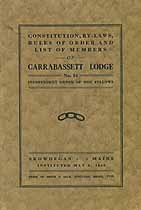 Thumbnail image of Carrabassett Lodge, No. 34 I.O.O.F. By-Laws cover