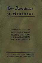 Thumbnail image of Arkansas Bar Association 1925 Meeting cover