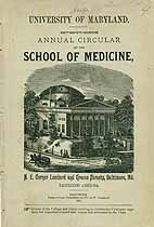 Thumbnail image of Univ. of Maryland Sch. of Medicine 1883 Catalogue cover