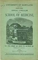 Thumbnail image of Univ. of Maryland School of Medicine 1889 Catalogue cover