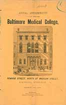 Thumbnail image of Baltimore Medical College 1887-8 Catalogue cover