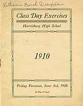 Thumbnail image of Harrisburg High School 1910 Class Day Program cover