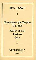 Thumbnail image of Skenesborough Chapter No. 663 O.E.S. By-Laws cover