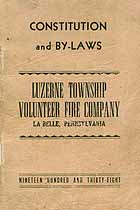 Thumbnail image of Luzerne Volunteer Fire Company 1938 Roster cover