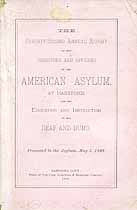 Thumbnail image of American Asylum at Hartford 1888 Report cover