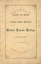 Thumbnail image of Oxford Female College 1867 Catalogue cover
