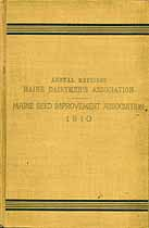 Thumbnail image of Maine Dairymen's Assoc. 1910 Annual Report cover