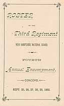 Thumbnail image of Third Regiment N.H. Nat. Guard 1882 Roster cover