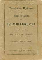 Thumbnail image of Massasoit Lodge No. 69, I.O.O.F. 1897 By-Laws cover