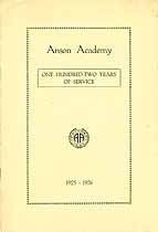 Thumbnail image of Anson Academy 1925-1926 Catalogue cover