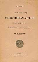 Thumbnail image of Texas State Orphan Asylum 1896 Report cover
