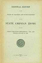 Thumbnail image of Texas State Orphan Home 1905/6 Report cover