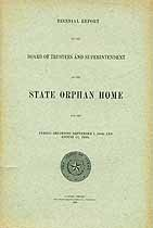 Thumbnail image of Texas State Orphan Home 1907/8 Report cover