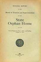 Thumbnail image of Texas State Orphan Home 1911/12 Report cover