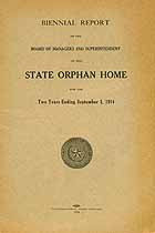 Thumbnail image of Texas State Orphan Home 1913/14 Report cover