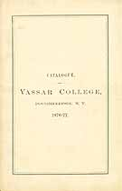 Thumbnail image of Vassar College 1876-77 Catalogue cover