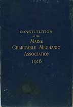 Thumbnail image of Maine Charitable Mechanic Association 1916 Roster cover