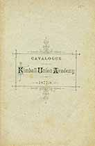 Thumbnail image of Kimball Union Academy 1877-8 Catalogue cover