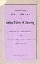 Thumbnail image of National College of Pharmacy 1882-'83 Circular cover